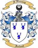A'Hannay Family Crest from Ireland