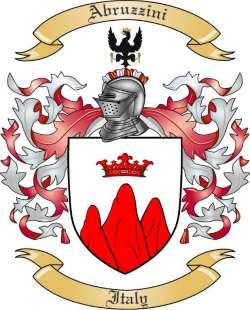 Abruzzini Family Crest from Italy