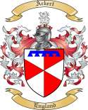Ackert Family Crest from England