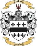 Ackhurst Family Crest from England