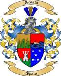Acosta Family Coat of Arms from Spain2