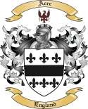 Acre Family Coat of Arms from England
