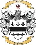 Acres Family Crest from England