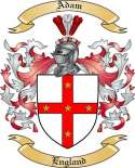 Adam Family Crest from England