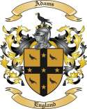 Adams Family Crest from England2