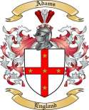 Adams Family Crest from England
