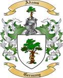 Adams Family Crest from Germany