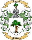Adams Family Crest from Slovakia