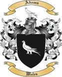 Adams Family Crest from Wales