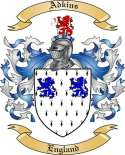 Adkins Family Crest from England