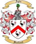 Agin Family Coat of Arms from Scotland