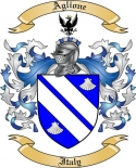Aglione Family Crest from Italy