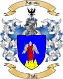 Agnola Family Crest from Italy