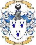 Ahanney Family Crest from Scotland