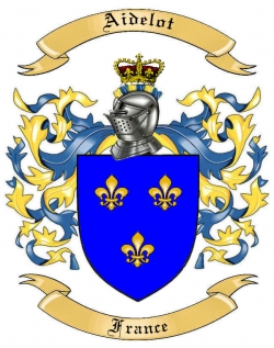 Aidelot Family Crest from France