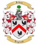 Aiken Family Crest from England