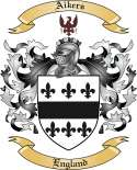 Aikers Family Crest from England