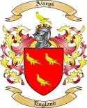 Aireys Family Crest from England