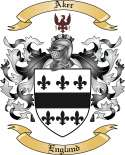 Aker Family Crest from England