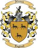 Alanus Family Coat of Arms from England