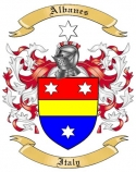 Albanes Family Crest from Italy