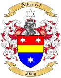 Albanesi Family Crest from Italy