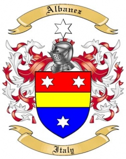 Albanez Family Coat of Arms from Italy
