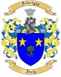 Albrigio Family Crest from Italy