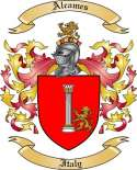 Alcames Family Coat of Arms from Italy