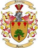 Alcoriza Family Crest from Spain