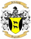 Aldeham Family Crest from England