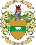 Alderidge Family Coat of Arms from England
