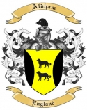 Aldham Family Coat of Arms from England