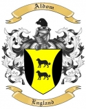 Aldom Family Crest from England