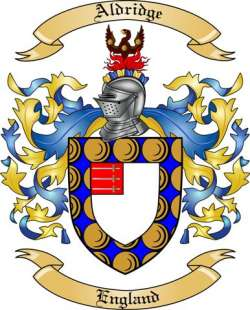 Aldridge Family Crest From England By The Tree Maker