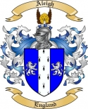Aleigh Family Crest from England