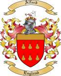 Alferd Family Coat of Arms from England