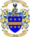 Alfonso Family Crest from Italy