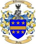 Alfonsoni Family Coat of Arms from Italy