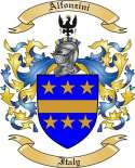 Alfonzini Family Crest from Italy