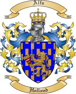 Alfs Family Crest from Holland
