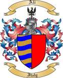 Ali Family Crest from Italy