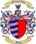 Aliapoulios Family Crest from Itlay