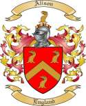 Alison Family Coat of Arms from England