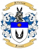 Alissan Family Crest from France
