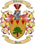 Alkoriza Family Coat of Arms from Spain
