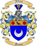 Allain Family Crest from France