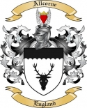 Allcorne Family Coat of Arms from England