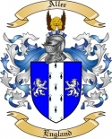 Allee Family Coat of Arms from England