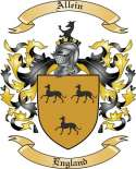 Allein Family Crest from England